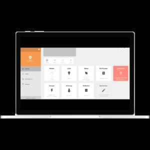 Abbildung der Web App von Deonexon in einem Browser