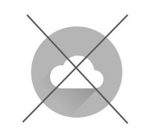 Symbol mit Bedeutung keine Cloud benötigt